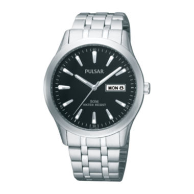 jcpenney.com | Pulsar® Mens Stainless Steel Watch PXN159X