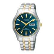 Pulsar® Mens Two-Tone Stainless Steel Watch
