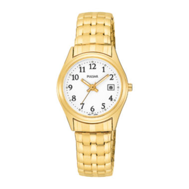 jcpenney.com | Pulsar® Womens Gold-Tone Stainless Steel Bracelet Watch PXT586