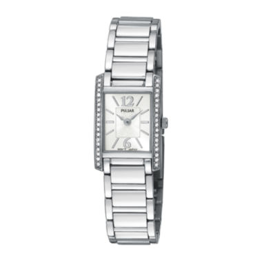 jcpenney.com | Pulsar® Womens Crystal-Accent Stainless Steel Bracelet Watch PEGC51