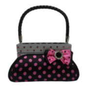 Black & Pink Polka Dot Purse Ring Holder
