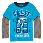 Arizona Long-Sleeve Doubler Graphic Tee – Boys 2t-6