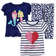 Okie Dokie® Print Capris or Short-Sleeve Tee - Girls 2t-6