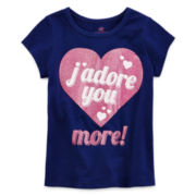 Okie Dokie® Short-Sleeve Graphic Tee - Girls 2t-5t