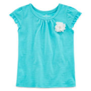 Okie Dokie® Short-Sleeve Flower Tee - Girls 2t-5t