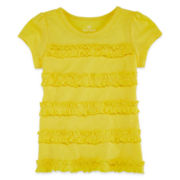 Okie Dokie® Short-Sleeve Ruffle Tee - Toddler Girls 2t-5t