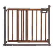 Summer Infant® Step-to-Secure Wood Walk-Thru Gate