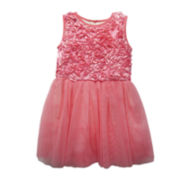 Marmellata Sleeveless Mesh Ballerina Dress - Girls 2t-4t