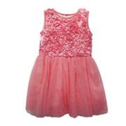 Marmellata Sleeveless Mesh Ballerina Dress - Girls 2t-4t
