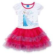 Disney Frozen Short-Sleeve Graphic Tutu Dress - Girls 2t-4t