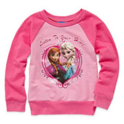 Disney Frozen Long-Sleeve French Terry Top - Girls 2t-4t