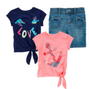 Arizona Bermuda Shorts or Tie-Front Tee - Girls 2T-5T