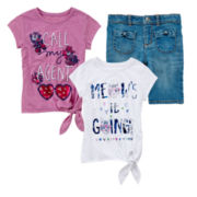 Arizona Bermuda Shorts or Tie-Front Tee - Girls 4-6x