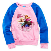 Disney Frozen Long-Sleeve French Terry Top - Girls 4-6x