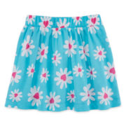 Okie Dokie® Print Knit Skort - Girls 4-6x