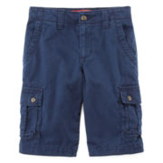 Arizona Twill Cargo Shorts – Boys 8-20, Slim and Husky