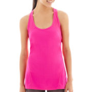 Xersion™ Curved-Seam Mesh-Pieced Racerback Tank Top