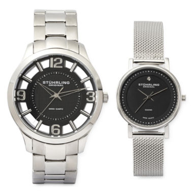 jcpenney.com | Stührling® Original Stainless Steel Spoke-Style Watch