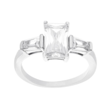 jcpenney.com | Silver Enchantment™ Cubic Zirconia Sterling Silver Engagement Ring