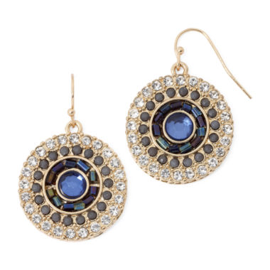 jcpenney.com | Decree® Blue and Clear Crystal Earrings
