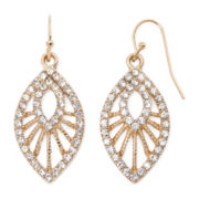 Decree® Crystal Openwork Teardrop Earrings