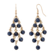 Decree® Blue Bead Chandelier Earrings