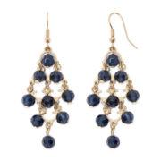 Decree® Blue Bead Chandelier Earrings