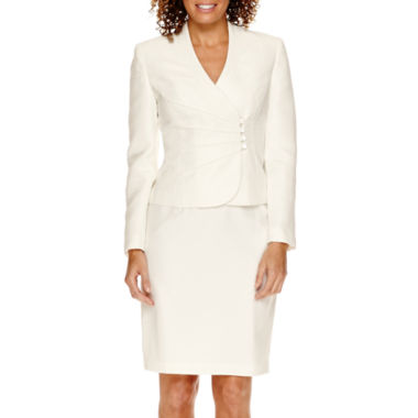 jcpenney.com | R&K Originals® Long-Sleeve Wrap Jacquard Jacket and Skirt Suit - Petite