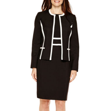 jcpenney.com | Black Label by Evan-Picone Contrast-Trim Jacket or Sheath Dress