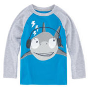 Okie Dokie® Long-Sleeve Graphic Raglan Tee - Toddler Boys 2t-5t
