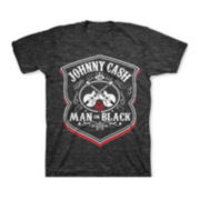 Johnny Cash Man in Black T-Shirt