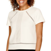 Worthington® Short-Sleeve Textured Blouse