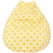 Cotton Hatch Print Teardrop Beanbag