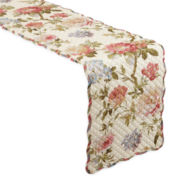 Waverly® Casa Di Fiori Quilted Reversible Table Runner
