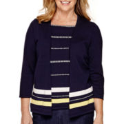 Alfred Dunner® Sausalito 3/4-Sleeve Layered Sweater