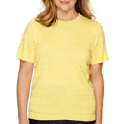 Alfred Dunner® Sausalito Short-Sleeve Sweater Shell