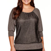 Alyx® Elbow-Sleeve Hatchi Dolman Top - Plus