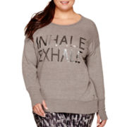 Xersion™ Long-Sleeve High-Low Sweatshirt - Plus