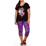 Xersion™ High-Low Graphic T-Shirt or Print Capris - Plus