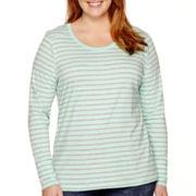 a.n.a® Long-Sleeve Modal-Blend Essential T-Shirt - Plus