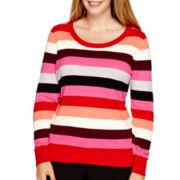 Worthington® Long-Sleeve Essential Crewneck Sweater - Plus
