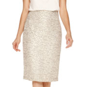 Worthington® Jacquard Pencil Skirt - Tall