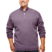The Foundry Supply Co.™ Reversible Quarter-Zip Sweater - Big & Tall
