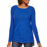 a.n.a® Long-Sleeve High-Low Sweater