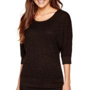 Alyx® Elbow-Sleeve Textured Dolman Sweater