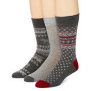 Stafford® 3-pk. Dress Socks Gift Set + BONUS Shoelaces