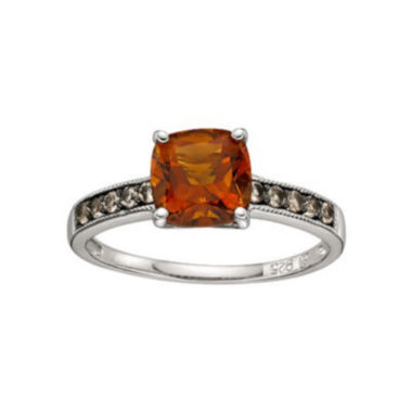 jcpenney.com | Sterling Silver Citrine Smoky Quartz Ring