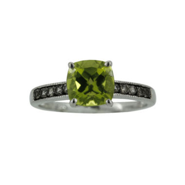 jcpenney.com | Sterling Silver Peridot and Smoky Quartz Ring