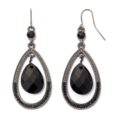 jcpenney.com | Mixit™ Black Faceted Teardrop Earrings