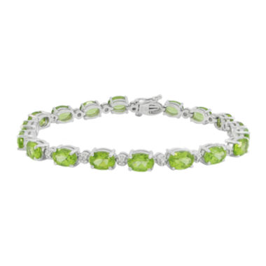jcpenney.com | Genuine Peridot & Diamond Accent Tennis Bracelet